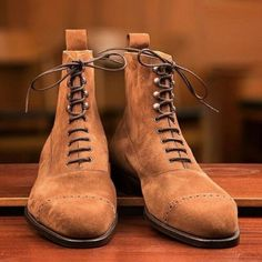 New Handmade Pure Tan Suede Leather Ankle Boots for Men's High Ankle Boots, Leather Ankle Boots, Suede Boots, Suede Leather, Soft Leather, White Leather, Office Boots, Botines Casual, Men's Shoes