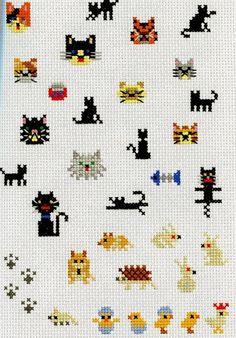 Punto cruz gatitos y ratones