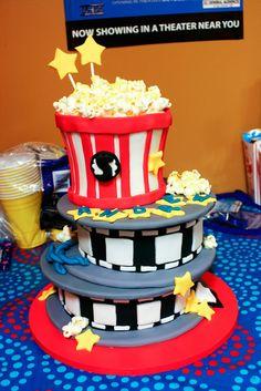 movie thearter theme birthday   Movie-theme cake from Faithfully Cakes