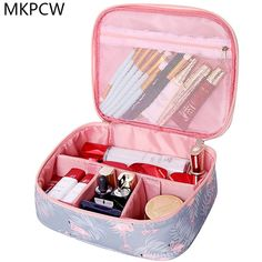 a6e127b8a65 Neceser waterproof Women Makeup bag Cosmetic bag Case Travel Make Up Toiletry  bag Organizer Storage pouch set box professional