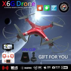 Good news, Only US $42.49 X6SW Dron FPV Quadcopter Drone with Camera HD WIFI Toys RC Helicopter Quadrocopter Helicoptero  #quadcopter #drone #camera #helicopter #quadrocopter #helicoptero
