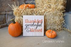 Thanksgiving Centerpiece, Thanksgiving Decoration, Thanksgiving Table Decor, 8x8 Wooden Sign, Fall H