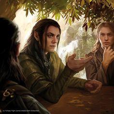 Magali Villeneuve Portfolio: The Lord of the Rings LCG : Erestor