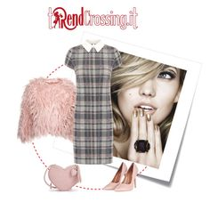 """""""Pink and plaid"""" by trendcrossing on Polyvore featuring moda, Post-It, WearAll, Topshop e plaid"""