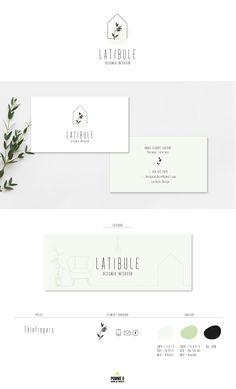 Nouveau branding pour une designer intérieur.