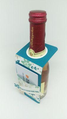 Stampin' Up Flaschenanhänger Strohhalmbox Gutschein Petrol