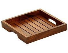 Serving Trays - SouvNear 8 Inch Handmade Wooden Square Brown Service Tray with Handles - Serve up treats or snacks with this sleek and attractive palette tray rendered in Indian rosewood 'shesham.' - Sept 7, 2015 price $19.99 / Andrew, Project Fellowship