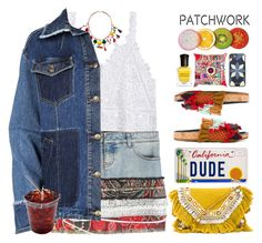 """""""Patched up!"""" by doga1 ❤ liked on Polyvore featuring Faith Connexion, MANGO, McQ by Alexander McQueen, Shashi, Chloé, Michael Kors, Surya, Deborah Lippmann and patchwork"""