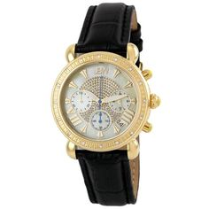 JBW Womens JB6210LA Victory Black Leather Diamond Watch * Find out more about the great product at the image link.Note:It is affiliate link to Amazon.