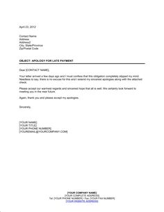 Sample Business Apology Letter For Late Payment Image Collections