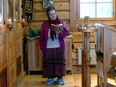 Skolt Sámi women reading Easter Orthodox liturgical prayers.     The actual mission work in Lapland began during the 16th century, when the Swedish missionaries travelled around winter villages of Lapland. By the beginning of the 17th century, almost all Sámi were baptised into Christianity, and the first church of Inari was built in 1648. However, many Sámi retained their old pagan religion along with the new religion for a couple of centuries. Orthodox Prayers, Orthodox Christianity, Religion, Russian Winter, Old Couples, Tribal People, Woman Reading, Father Christmas, People Photography