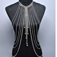 Cheap necklace costume jewelry, Buy Quality jewelry choker necklace directly from China jewelry organizer necklaces Suppliers: Fashion sexy golden plated body chains jewelry Style Sexy QUEEN Gold Body Chain Bikini Chain Beach necklace Jewle Silver Body Jewellery, Body Chain Jewelry, Dress Jewellery, Jewellery Shops, Gothic Jewelry, Cheap Fashion Jewelry, Cheap Jewelry, Unique Jewelry, Sexy Bikini