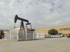 oil well in a mall parking lot - you can find oil everywhere