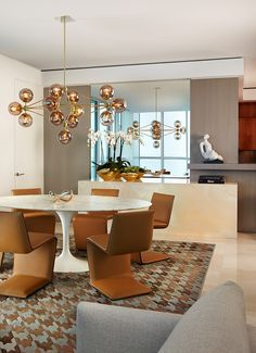 dining room ideas, modern decor, interior design by Allen Saunders, for more ideas and inspirations visit:http://www.bocadolobo.com/en/inspiration-and-ideas/