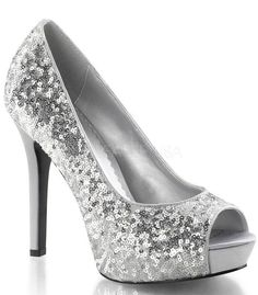 Lumina Silver Sparkle Slip On Pumps - The Atomic Boutique