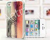 Giraffe iPhone Case, iPhone 4 Case, iPhone case, iPhone 4s Case, iPhone 4 Cover, Hard iPhone 4s Case