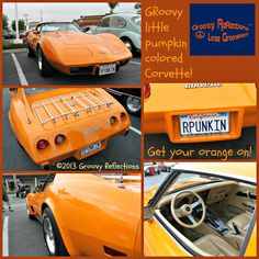 1977 was a GRoovy year ...thank goodness orange was still popular and that Chevy decided to offer the Corvette in that color! Photo taken in Orange County, CA, late Spring 2013.  #cars #Chevy #Chevrolet #Corvette #Groovy