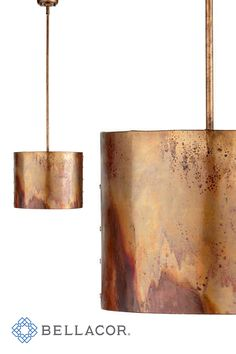 Save on Cyan Design Mauviel Copper One-Light Pendant made out of iron and finished in a copper finish. Shop with confidence at Bellacor with Price Match Guarantee. Copper Lamps, Copper Lighting, Industrial Pendant Lights, Kitchen Pendant Lighting, Light Pendant, Industrial Style Lamps, Navy And Copper, Lighting Concepts, Lighting Ideas
