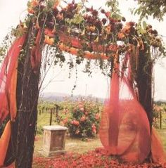 This would be cute for a Fall wedding...Not quite as squared off and formal looking,though.