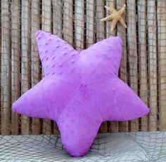 Starfish pillow, minky dot starfish, nautical baby, ocean living pillows, coastal living, baby shower gifts,wild orchid starfish,sealife by Fleeceofnature on Etsy