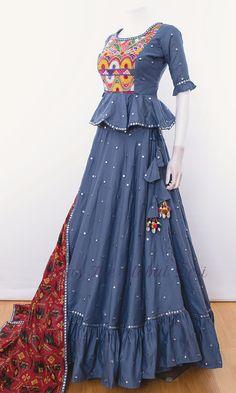 choli-Raas The Global Desi-[chaniya_choli_online]-[chaniya_choli_for_garba]-[chaniya_choli_for_navratri]-Raas The Global Desi Indian Fashion Dresses, Indian Gowns Dresses, Dress Indian Style, Indian Designer Outfits, Indian Outfits, Indian Clothes, Girls Dresses, Fashion Outfits, Lehenga Choli Designs