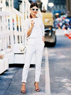 Shake up an all-white outfit with some seriously FUN sunglasses
