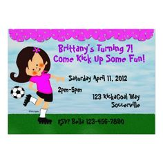 Shop Soccer Celebration Invitation created by kidsinvitations.