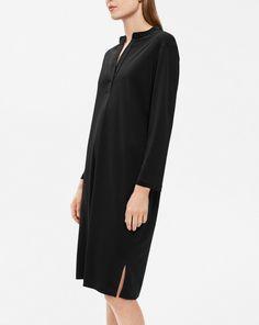 Side Slit Tunic Dress Black - Dresses - Shop Woman - Filippa K