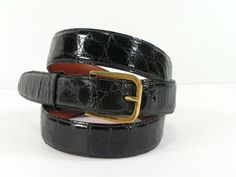 Men new genuine plain black leather strap belt made in the USA