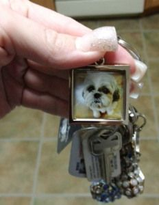 Lisa turned a picture of her sweet dog into the ultimate key ring. It's the perfect photo gift accessory to carry around on the go.