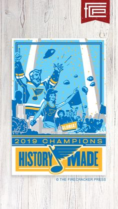 The Firecracker Press – STL Authentics Champs Posters, St Louis Blues, Firecracker, Nhl, Seasons, In This Moment, History, Hockey, Basement