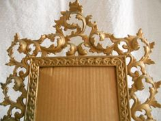 VINTAGE ornate gold toned metal frame.  by PegsSecondChance, $17.00