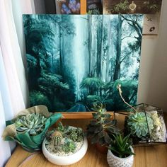 It is a relaxing scene, whose dimension brings it back to a romantic distance, and the foreground invites you to immerse yourself in a refreshing meditation . Drawn Art, Acrylic Art, Beautiful Paintings, Love Art, Painting Inspiration, Creative Art, Painting & Drawing, Amazing Art, Watercolor Paintings