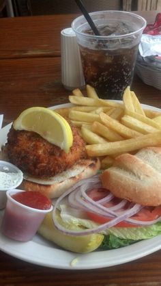Craving a delicious crab cake sandwich?  Check out  Pier 14's in Myrtle Beach, South Carolina!