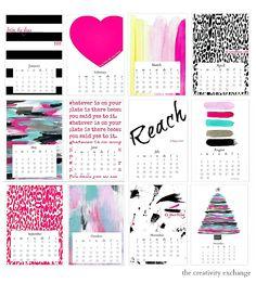 Free printable 2015 Desktop Calendar collection. The Creativity Exchange