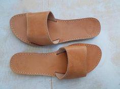 Slides Slippers Sandals Flip Flop Leather Sandal Womens