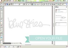 Thickening the Handwritten Words in Silhouette Studio