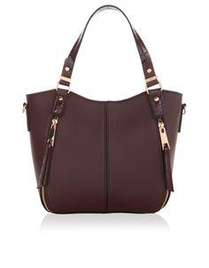 Mini Mia Bucket Handheld Bag   Red   Accessorize