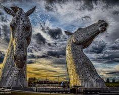 The Kelpies Photographic print Scotland by JEdmondPhotography Edinburgh Photography, London Photography, Fine Art Photography, Landscape Photography, White Photography, Glasgow Scotland, Scotland Uk, Unique Photo, Prints For Sale