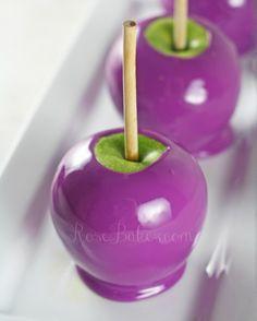Manzanas de caramelo púrpura Uva