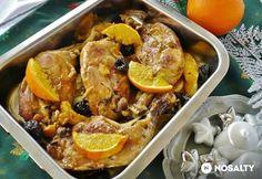 Mézes-narancsos csirkecomb