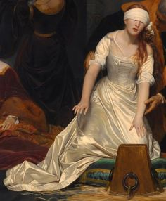 The Execution of Lady Jane Grey (1833) ~ by Paul Delaroche, detail.