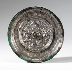 mirror ||| sotheby's n09116lot72s74fr Bronze Mirror, Chinese Ceramics, Chinese Antiques, Asian Art, Metal Working, Mirrors, Modern Art, Beast, Auction