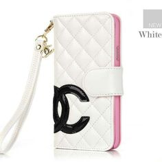 Chanel Samsung Galaxy S5 Cases Designer buy leather Cover White Free Shipping - Deluxeiphonecase.com