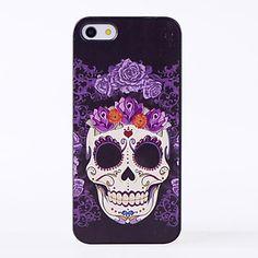 paarse bloem schedel patroon harde case voor de iPhone 6 – EUR € 1.99