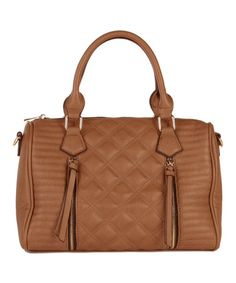 Look what I found on #zulily! Chocolate Perry Quilted Satchel by Elise Hope #zulilyfinds