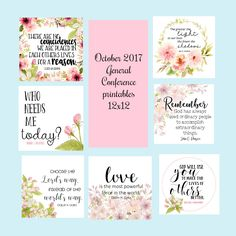 October 2017 General Conference Printables- 12x12- November 2017 Visiting Teaching message by Mimileeprintables on Etsy