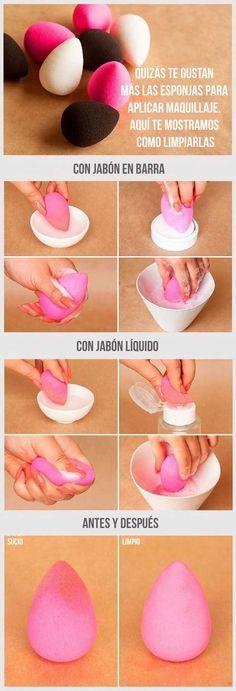 ¿Cómo limpiar tus esponjas de maquillaje?