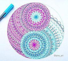 Mandala More Use colored pencils from Aurora art supplies! http://aurora-artsupplies.com