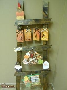 September ladder kit diy wood craft from crafty wood cutouts ladder monthly kit crafty wood cutouts sciox Images